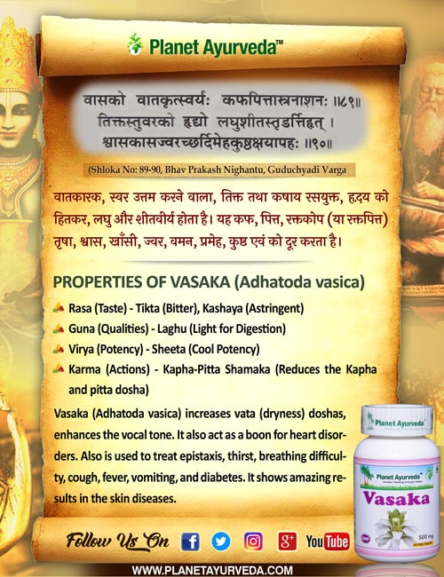 Classical Reference of Vasaka (Adhatoda vasica)